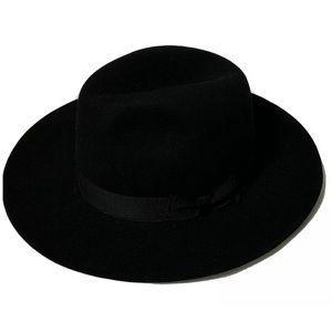 Borsalino Fedora Black Hat Italy Size 7 56cm Mint